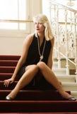 Reizende blonde Dame Lizenzfreie Stockfotografie