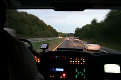Reizende Bus Royalty-vrije Stock Afbeelding