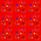 Reizende empfindliche Blumen zerstreuten alle über dem Netz, Muster Lizenzfreie Stockbilder