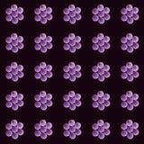 Reizende empfindliche Blumen zerstreuten alle über dem Netz, Muster Stockbilder