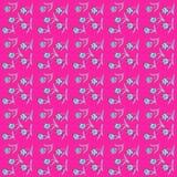 Reizende empfindliche Blumen zerstreuten alle über dem Netz, Muster Lizenzfreies Stockfoto