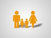 Reizende Familie 1 Stockbild