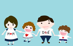 Reizende Familie Lizenzfreies Stockfoto