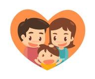 Reizende Familie glücklich zusammen Stockfoto