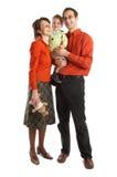 Reizende Familie mit Schätzchen Stockfotografie