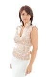 Reizende Frau in der zufälligen Kleidung Lizenzfreies Stockbild