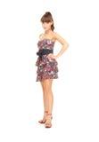 Reizende Frau im Kleid Lizenzfreies Stockbild