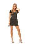 Reizende Frau im Kleid Lizenzfreie Stockfotos
