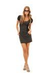 Reizende Frau im Kleid Lizenzfreie Stockbilder