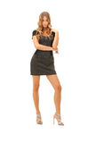 Reizende Frau im Kleid Stockbilder