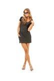 Reizende Frau im Kleid Lizenzfreies Stockfoto