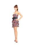 Reizende Frau im Kleid Stockfotografie