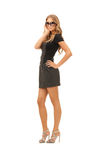 Reizende Frau im Kleid Stockfoto