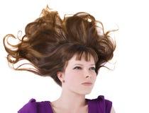 Reizende Frau mit dem langen roten Haar Lizenzfreies Stockbild