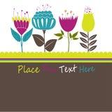 Reizende Frühlings-Auslegung mit Blumen. Stockbild