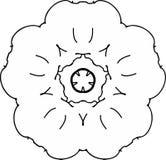 Reizende Friedensmohnblumen-Blumenzeichnung lizenzfreie abbildung