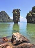 Reizende Insel in geschlossener Lagune Lizenzfreie Stockfotografie