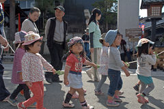 Reizende japanische Kinder, Takayama, Japan Lizenzfreie Stockfotografie