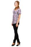 Reizende junge Frau in der beiläufigen Kleidung Lizenzfreie Stockfotografie