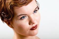 Reizende junge Frau mit Dollar Lizenzfreie Stockfotografie