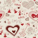 Reizende nahtlose Beschaffenheit des Valentinstags Stockfotos
