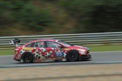Reizende raceauto Stock Foto's
