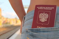 Reizende Russische Vrouw Royalty-vrije Stock Foto's