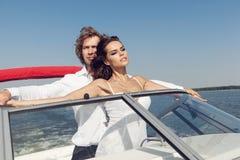 Reizende schöne Paare der Mode Stockfoto
