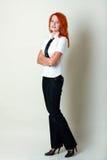 Reizende stilvolle Geschäftsfrau lizenzfreie stockbilder