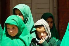 Reizende Studenten in der Schule in Kargil, Ladakh Lizenzfreies Stockbild