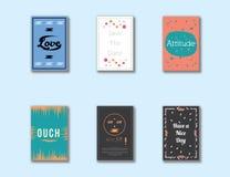 Reizender einfacher einzigartiger Postkarten-Abdeckungs-Entwurf stock abbildung