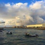 Reizender Hafen Stockbild