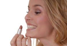 Reizender Lippenstift Stockfoto