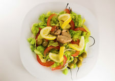 Reizender Salat Stockbild
