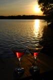 Reizender Sonnenuntergang lizenzfreie stockfotografie