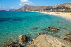 Reizender Strand auf Kreta-Insel stockbild