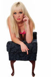 Reizendes blondes Mädchen Lizenzfreie Stockbilder