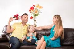 Reizendes Familienportrait Lizenzfreies Stockfoto