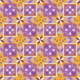 Reizendes geometrisches nahtloses Muster in der bulgarischen Art lizenzfreie abbildung