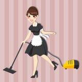 Reizendes Hausfrau-Mädchen vektor abbildung