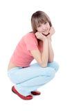 Reizendes junges Mädchen lizenzfreie stockbilder