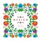 Reizendes mexikanisches ethnisches Blumendekorationsdesign lizenzfreie abbildung