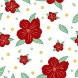 Reizendes nahtloses Muster von Blumen Endloser Hintergrund Lizenzfreie Stockfotografie