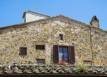 Reizendes Toskana-Haus in Pienza, Toskana lizenzfreies stockfoto