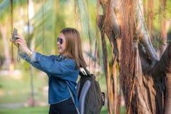 Reiziger die selfi nemen Royalty-vrije Stock Afbeeldingen
