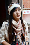 Reiziger in Durbar-vierkant in Katmandu Nepal Royalty-vrije Stock Foto