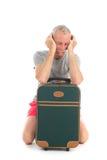 Reiziger met vertraging stock fotografie