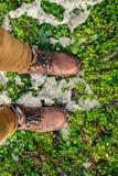 Reiziger op een gras Royalty-vrije Stock Foto's