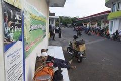 Reizigers die Semarang ingaan Royalty-vrije Stock Foto