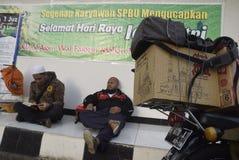 Reizigers die Semarang ingaan Royalty-vrije Stock Afbeeldingen
